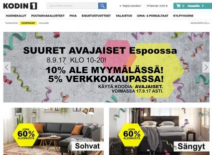Kodin 1 on palannut sisustusmarkkinoille - avasi liikkeen Espooseen